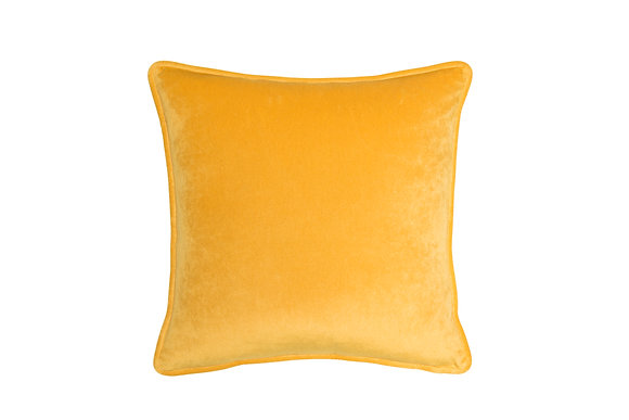 MUSTARD COLOR VELVET CUSHION