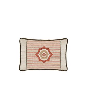 Applique Detailed Mini Lumbar Cushion