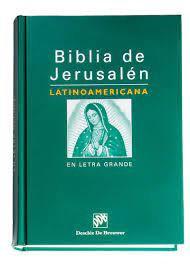 Biblia Jerusalén letra grande