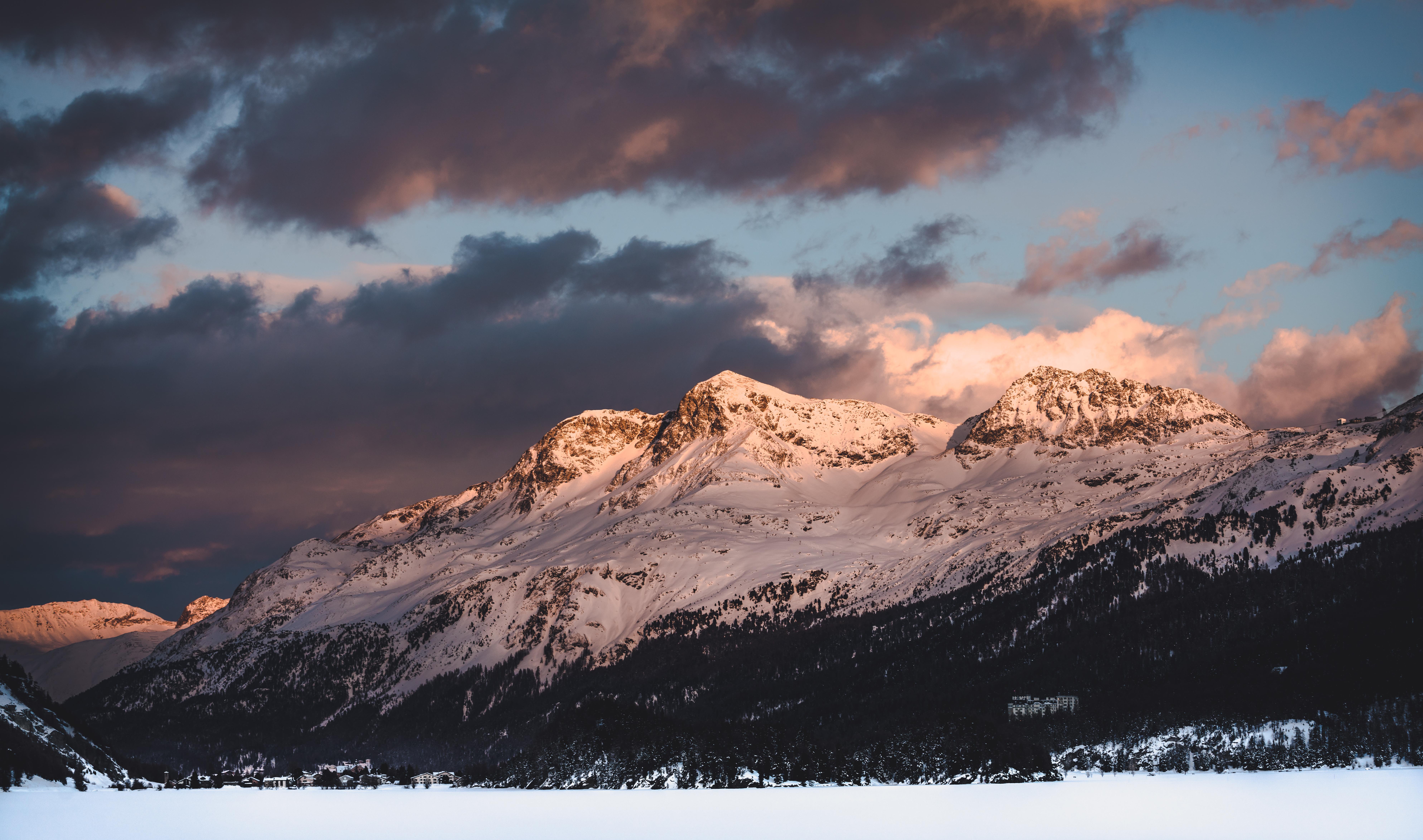 Beautiful-mountain-sunset-travel-holiday-Switzerland