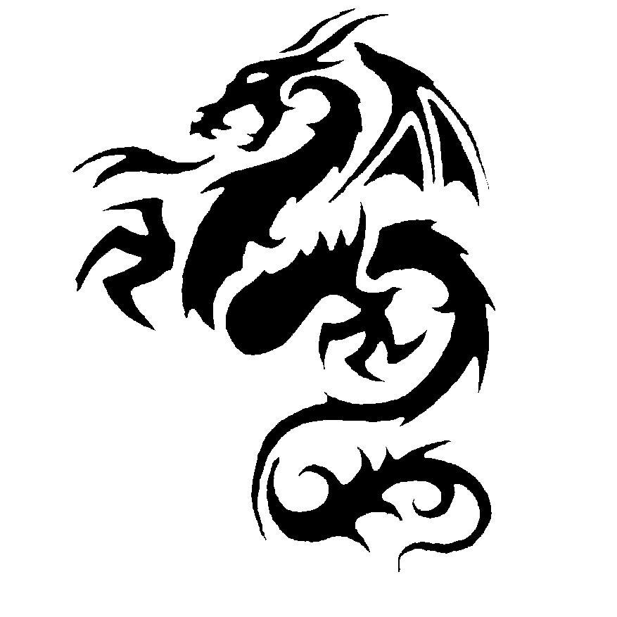 Dragon-Tribal-Tattoo-Stencil-3