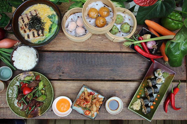 pan-asian and chinese food