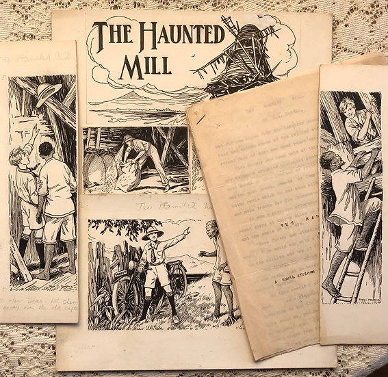 Rogers, G.M. The Haunted Mill [Typewritten MS and accompanying Periodical Art].