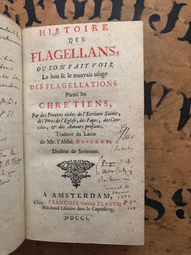Boileau, Jacques. [EROTICA] Histoire de Flagellans.