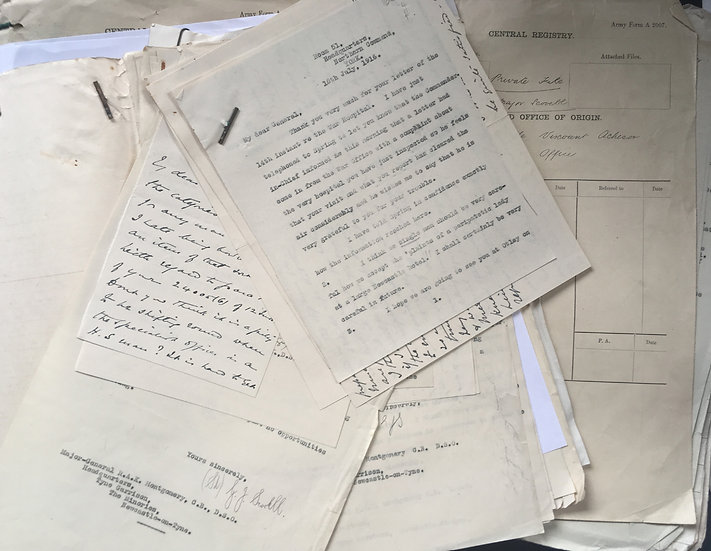 Scovell, Major G. [Archive] Correspondence Files from Headquarters Northern CMD.
