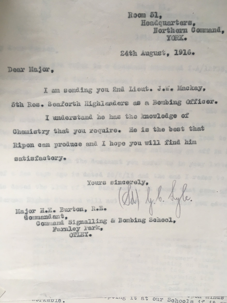Scovell, Major G  [Archive] Correspondence Files from Headquarters Northern  CMD