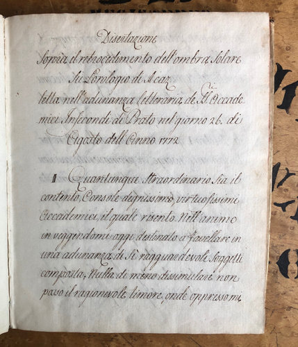 Borrani, Pietro. [Manuscript: Sundials]