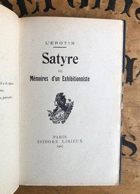L'Erotin [pseud. Alphonse Momas]. [Erotica] Satyre