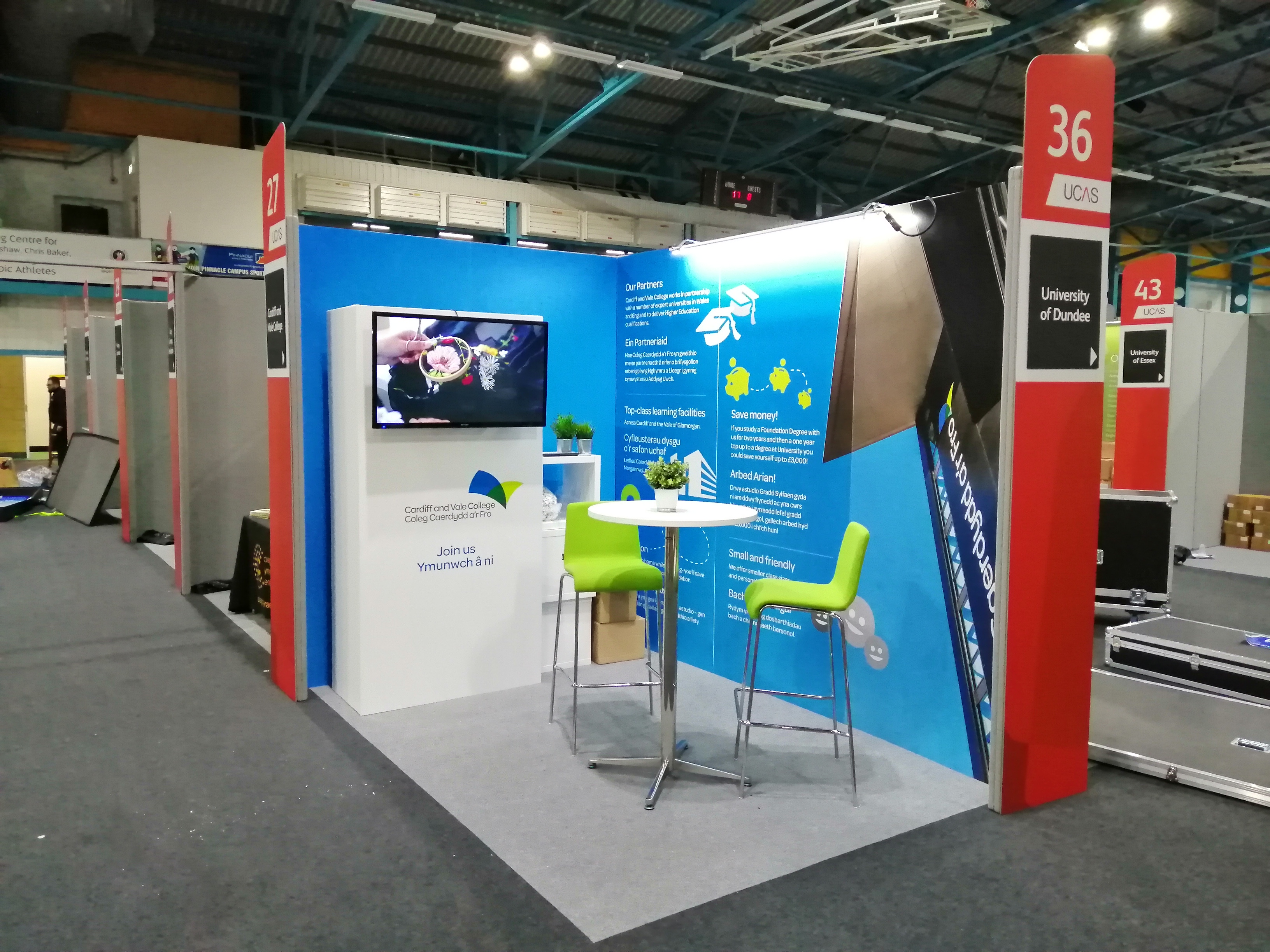 Exhibition Stand Graphics & TV pod