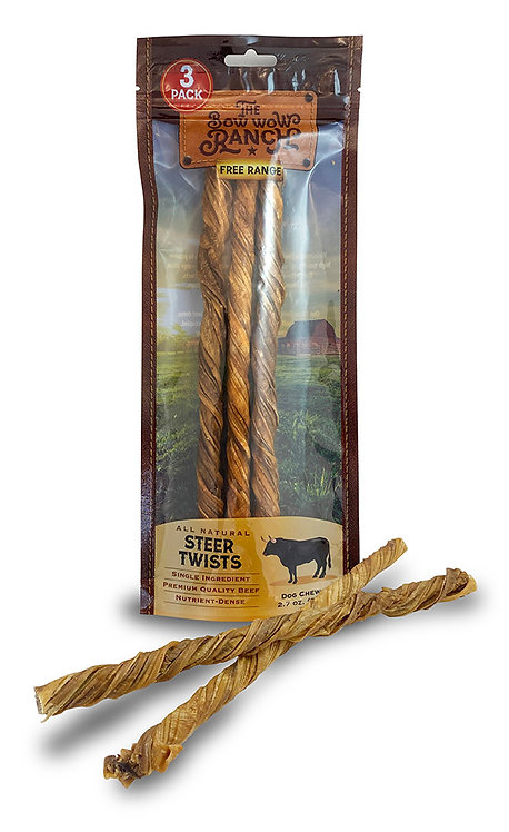 """The Bow Wow Ranch Steer Twists 10"""""""