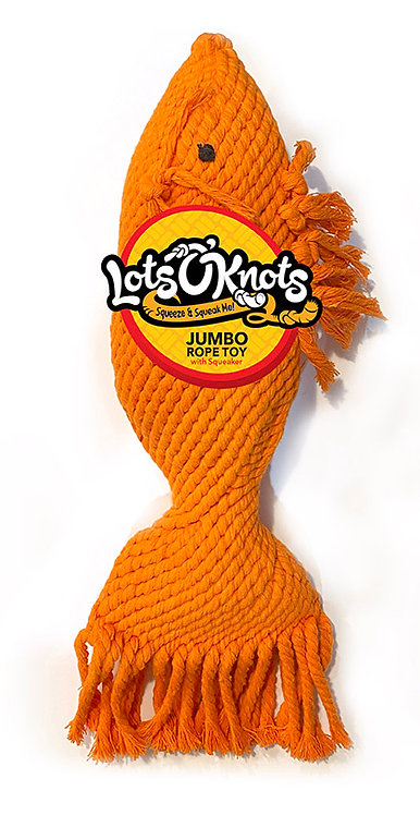 #01392 Jumbo Rope Toy Asst - Fish