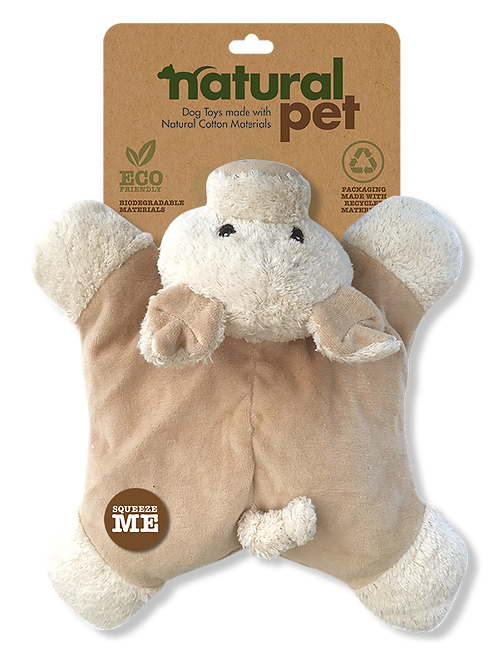 #01283 Plush Dog Toy with Crinkle Asst. - Pig