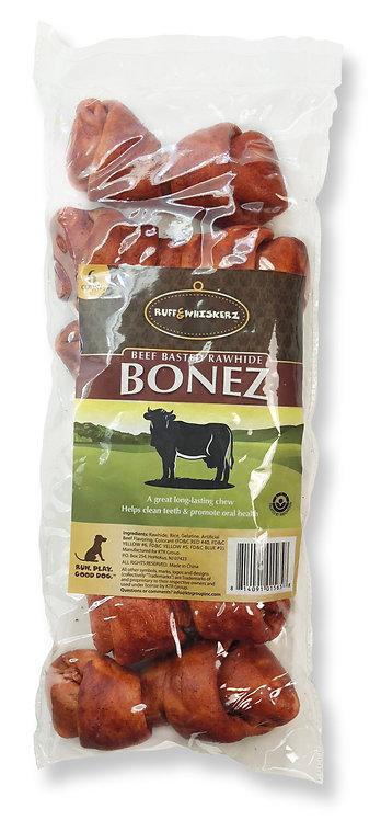 "#01565 Beef Basted 4-5"" Rawhide Bonez 6 Count"