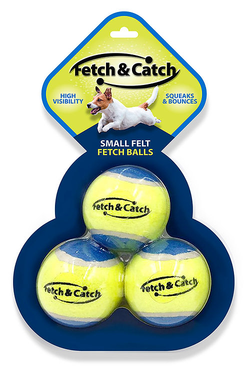 """#01703  2.5"""" Squeaky Tennis Balls 3 Pack"""