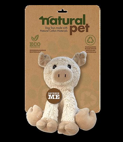 """#01285 6"""" Dog Toy Asst. - Pig"""