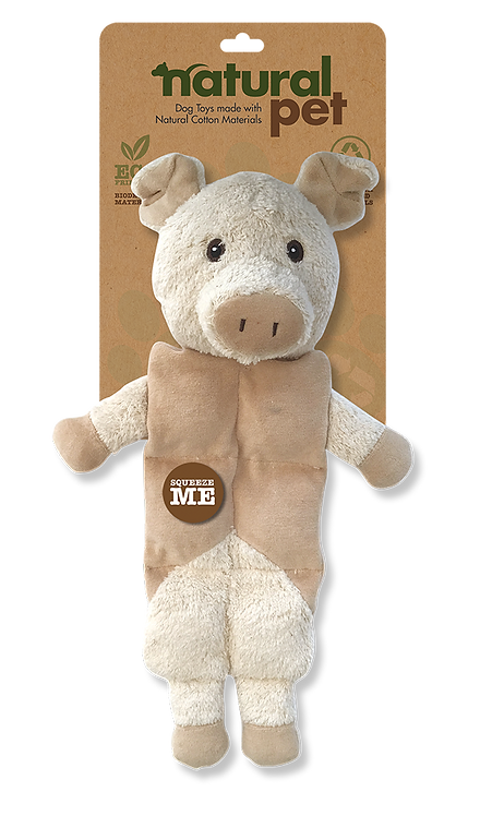 #01284 Multiple Squeaker Dog Toy Asst. - Pig