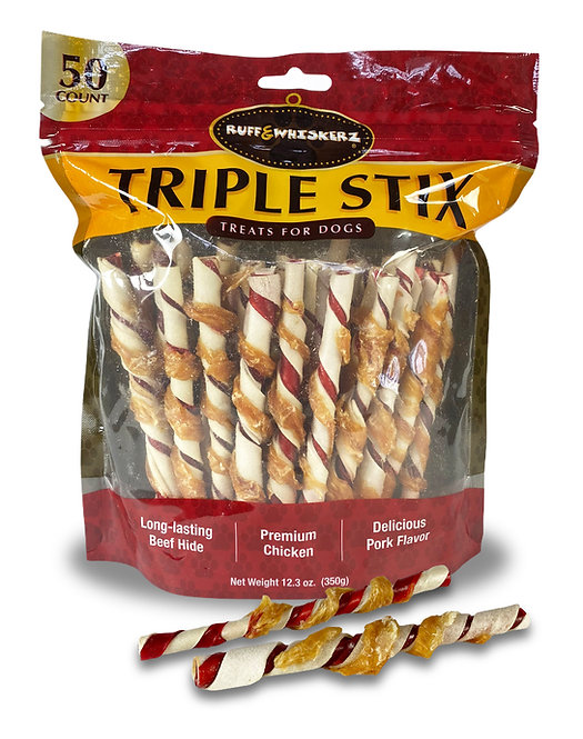 Ruff & Whiskerz Triple Stix - 50CT