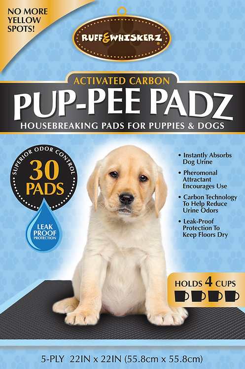 #01593 Charcoal Activated Pup Pee Padz - 30 ct