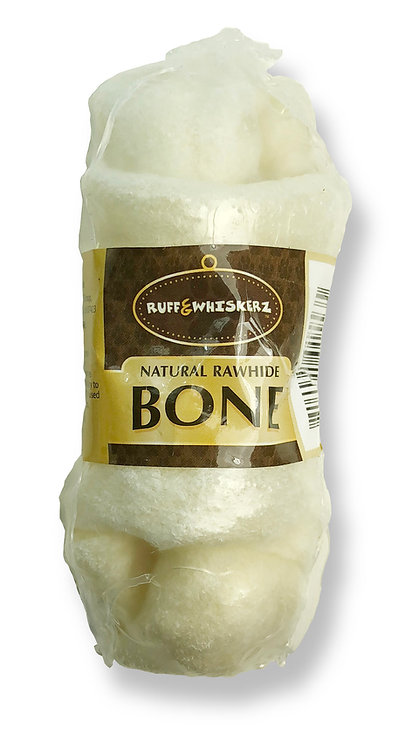 #01553 Natural Rawhide Bone 4""