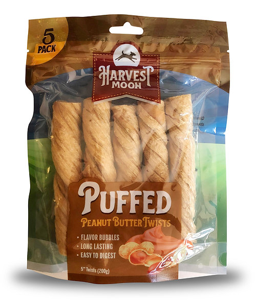 "#01544 Puffed 5"" Twists Peanut Butter - 5pcs"