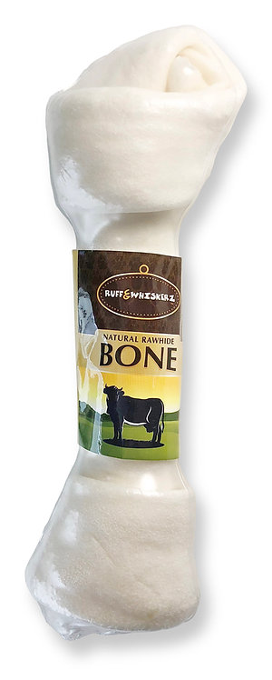 #01557 Natural Rawhide Bone 9""