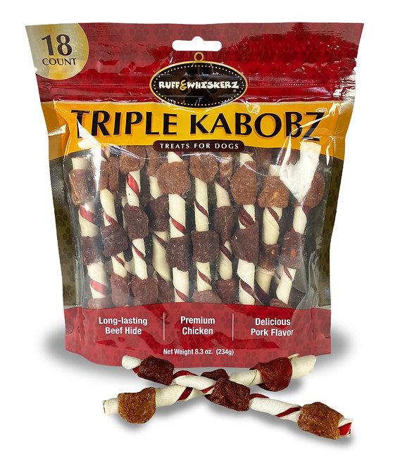Ruff & Whiskerz Triple Kabobz - 18CT