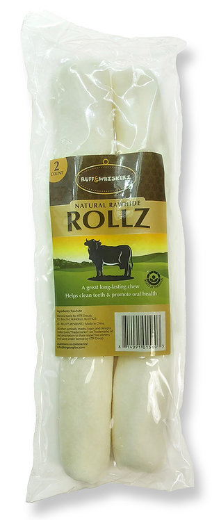 """#01560 Natural Rawhide Rollz 10"""" 2 Count"""
