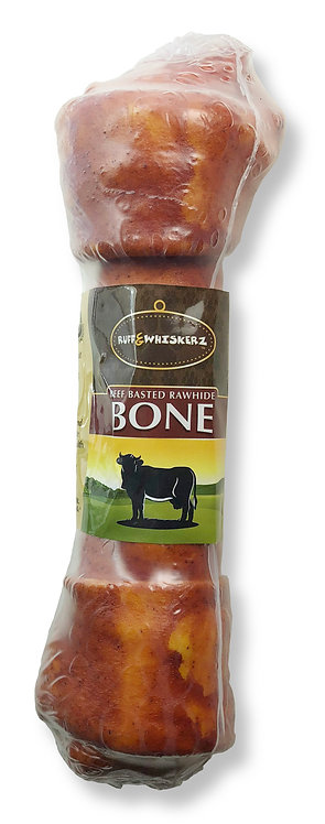 #01558 Beef Basted Rawhide Bone 9""