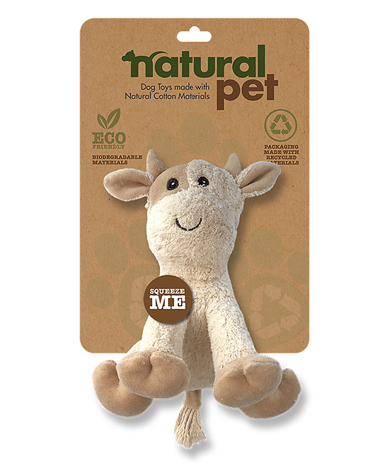 "#01285 6"" Dog Toy Asst. - Cow"