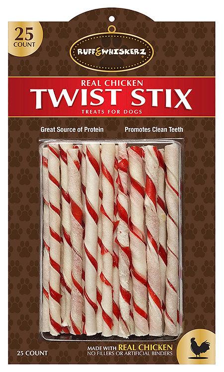 Ruff & Whiskerz Twist Stix - 25CT