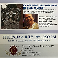 Flyer for ice sculpting demonstration by Kevin O'Malley at The Chelsea at Shrewsbury