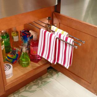 Chrome Sliding Towel Bar