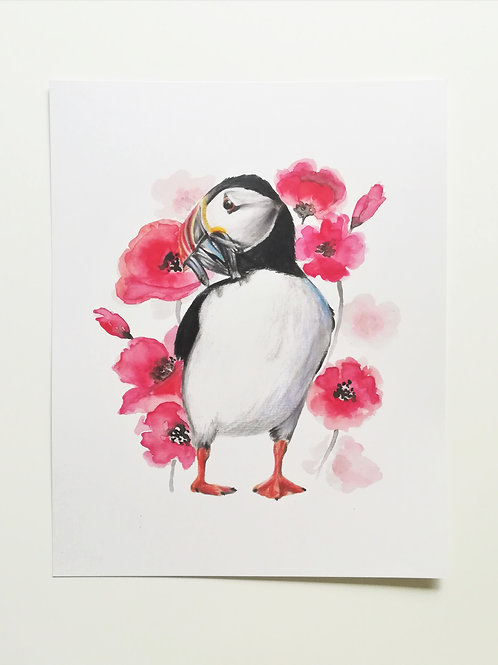 "Puffin 8x10"" artwork print"