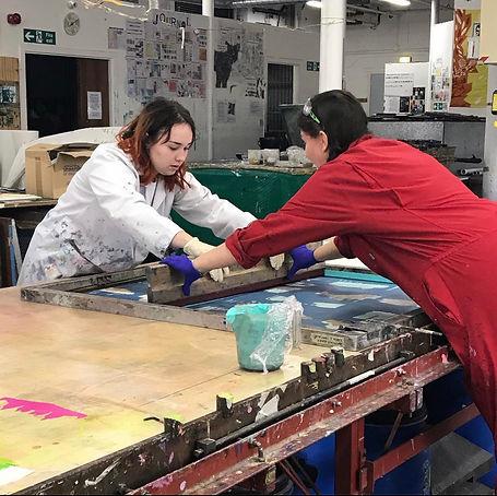 screenprinting heriot watt university textiles printing