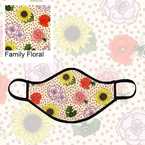 Family Floral Face Masks