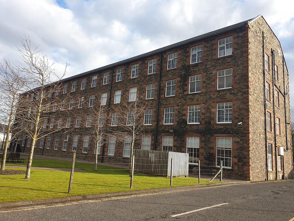 heriot watt high mill textile design building