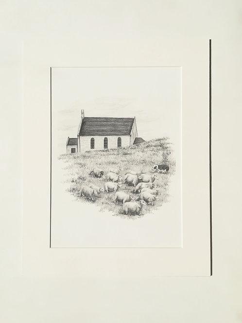 Fair Isle Kirk Print