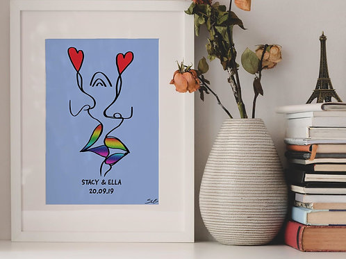Rainbow Kiss Print