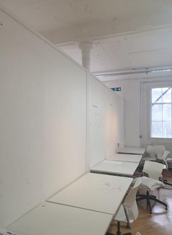 empty studio space desks