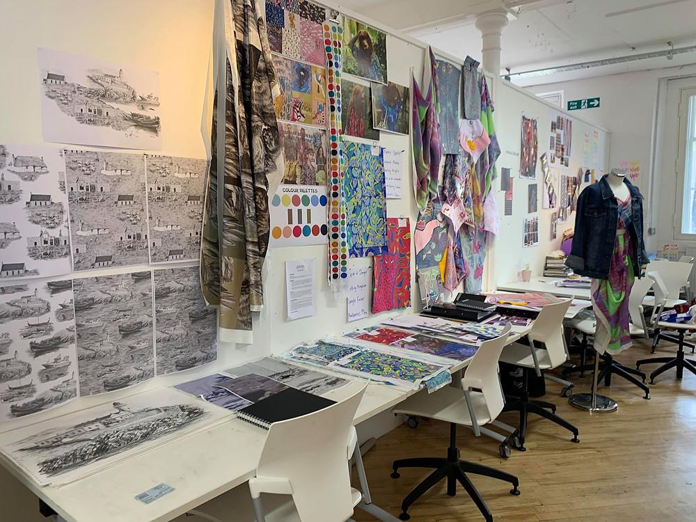 design textiles studio desks