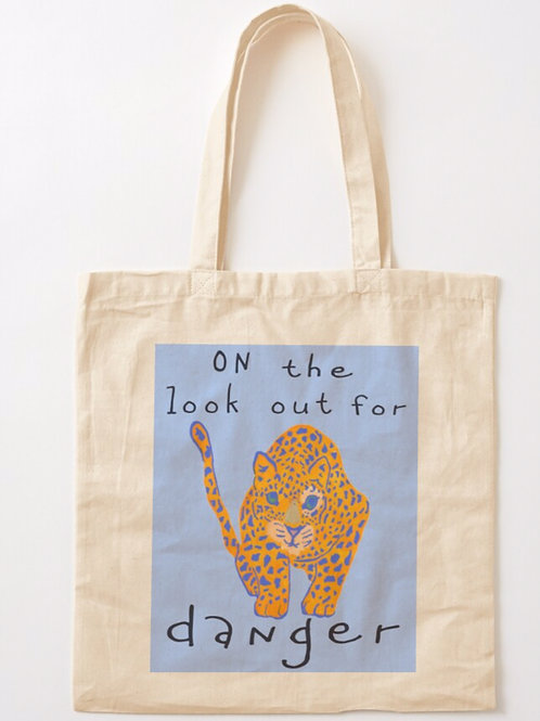 Graphic Leopard Tote Bag