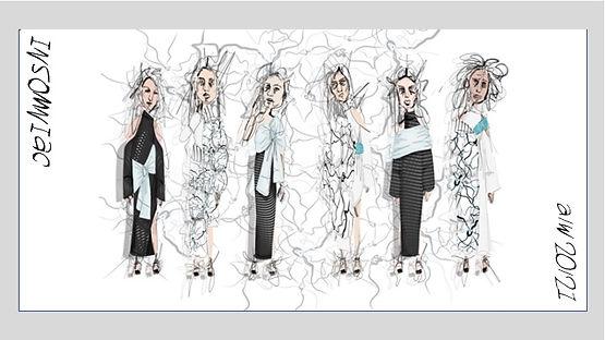 Megan M Designs fashion illustrations sketch
