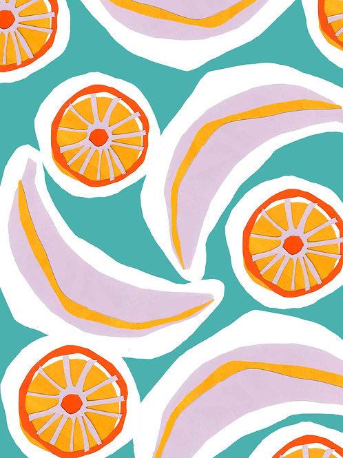 Fruity Banana & Orange Print