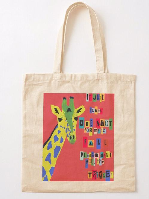 Graphic Giraffe Tote Bag