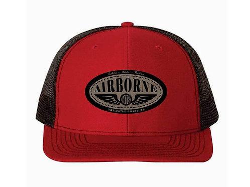 Airborne Hat - Red/Black w/logo