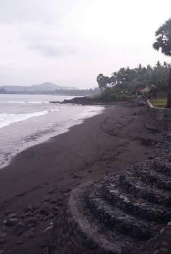 Black sand beach Bali