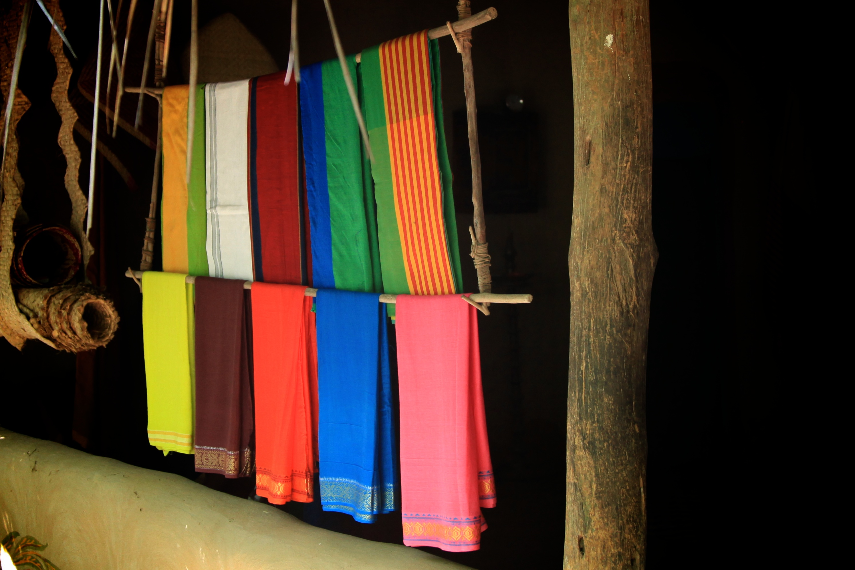 Hanging cloths in accommodations