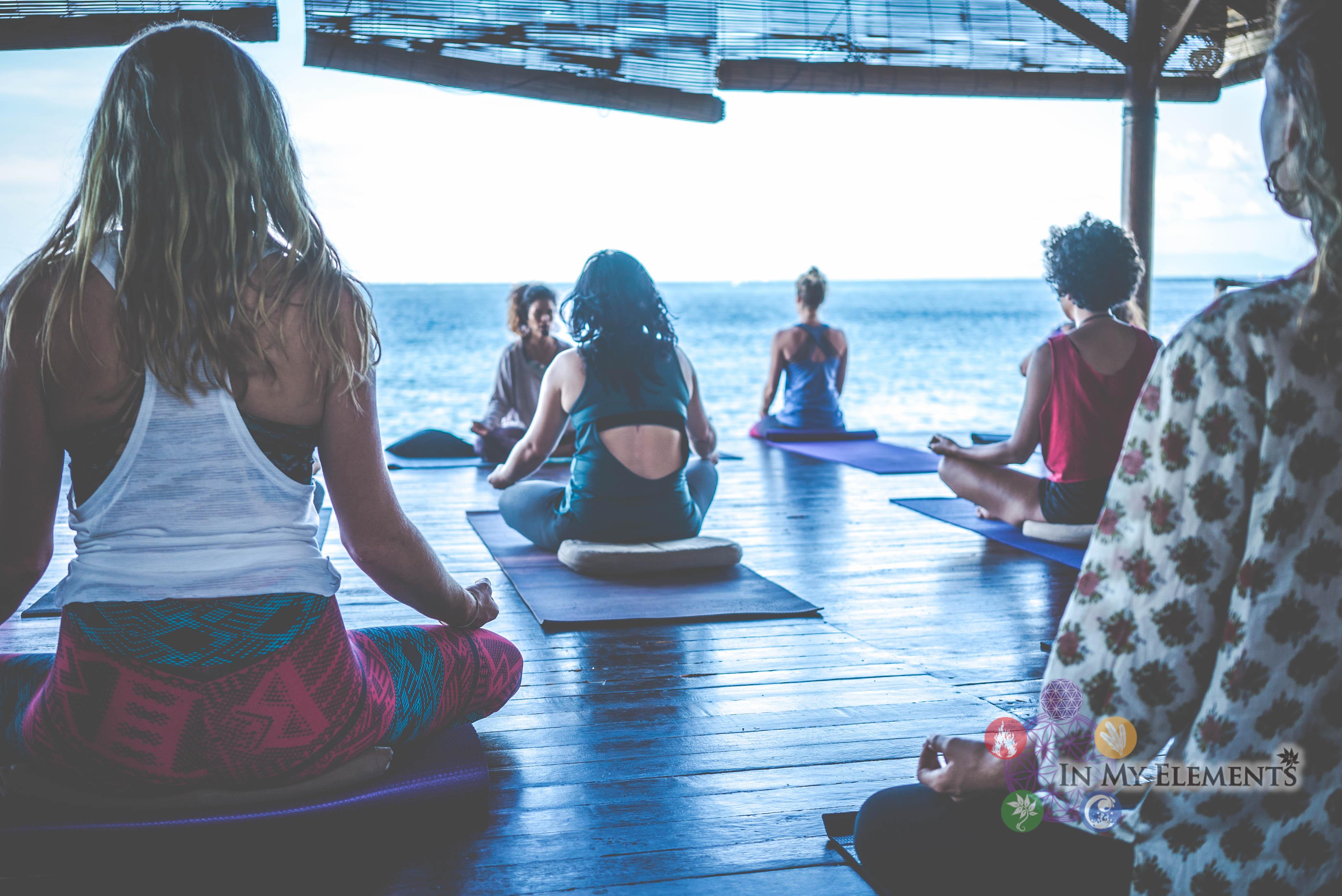 Yoga practice in Bali
