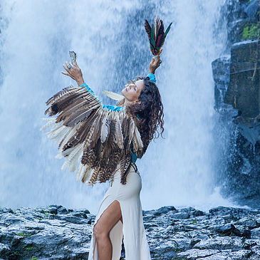 Malaika wings waterfall Dance