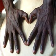 Make love sign with hands